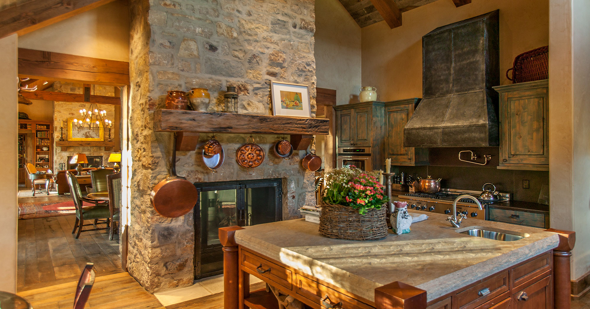 Traditional Custom Building Ranch Kitchen