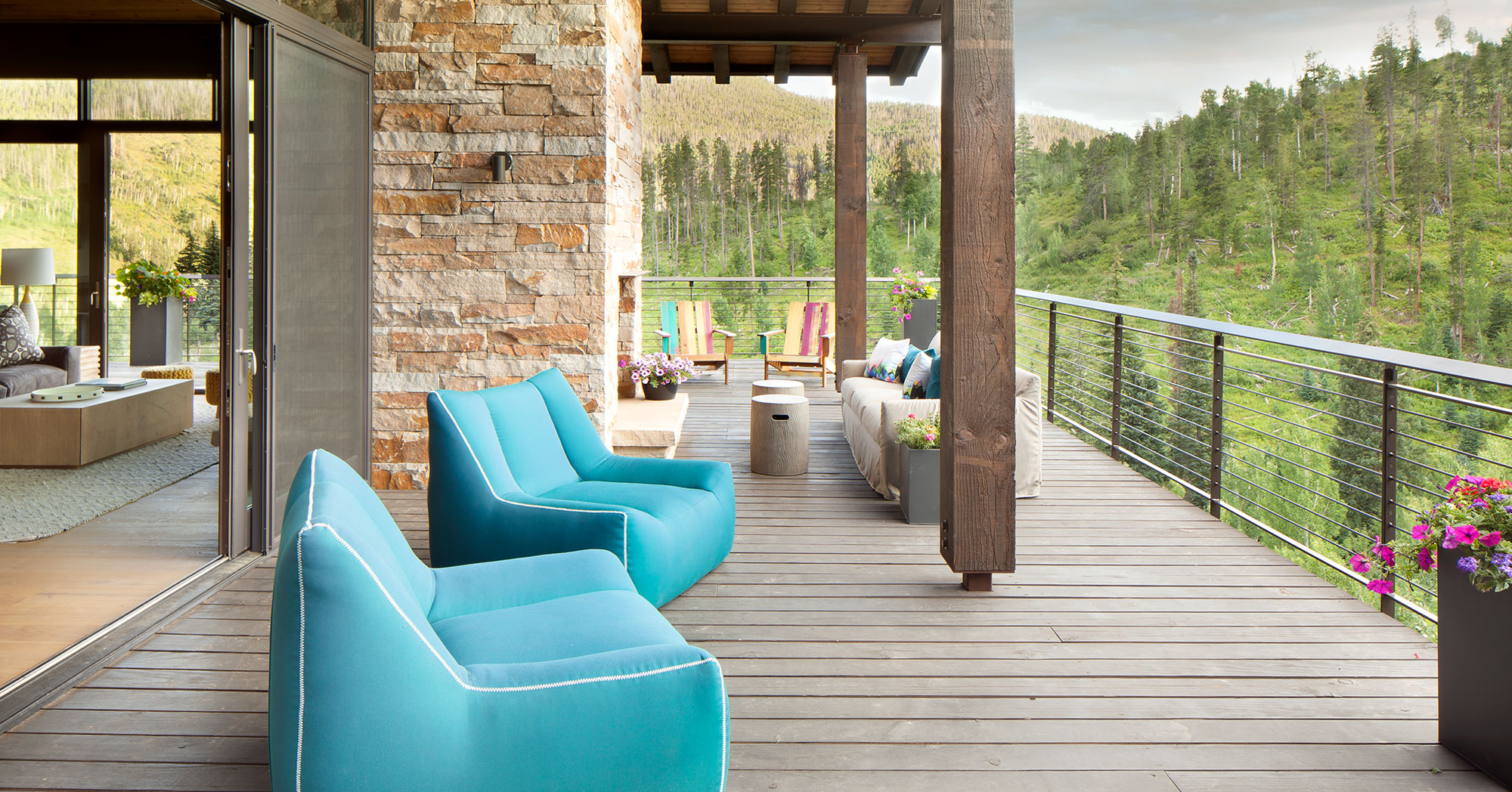 Alpine Modern Deck Vail Custom Homes