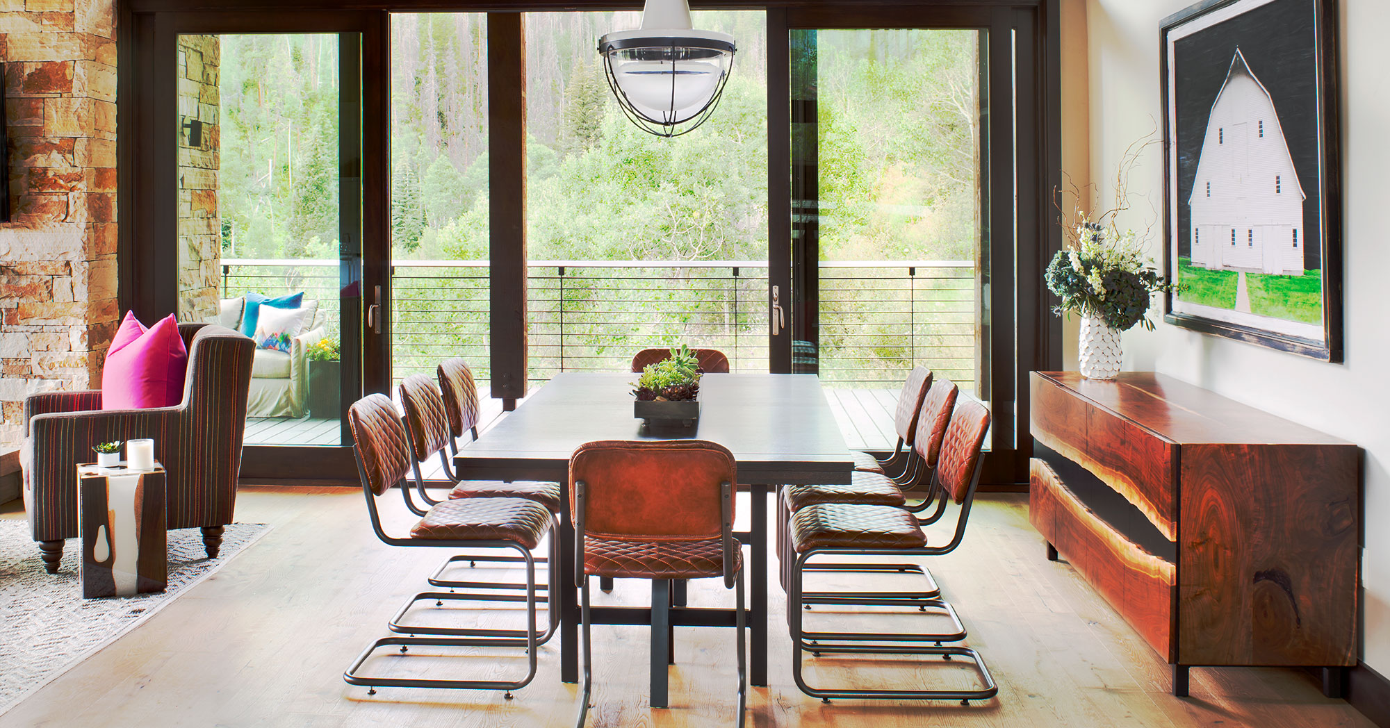 Modern Contemporary Dining Room Vail House Contemporary Dining Room Vail HOuse