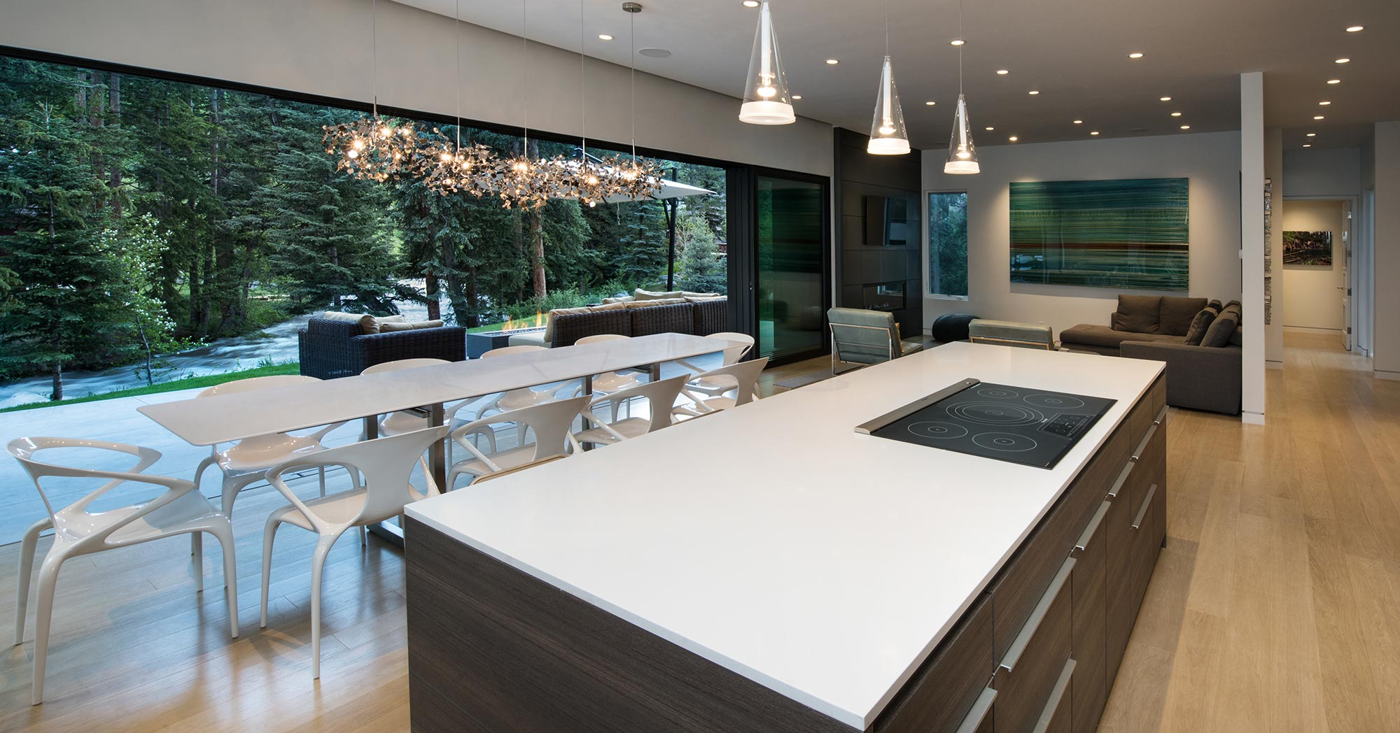 East Vail Custom Kitchen to Outdoor Area