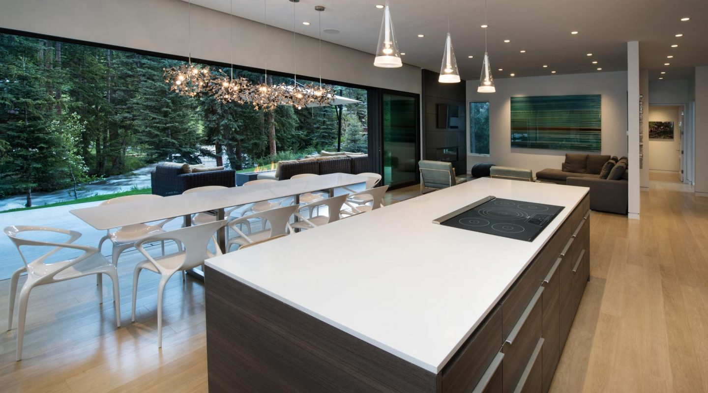East Vail Mountain Modern custom kitchen
