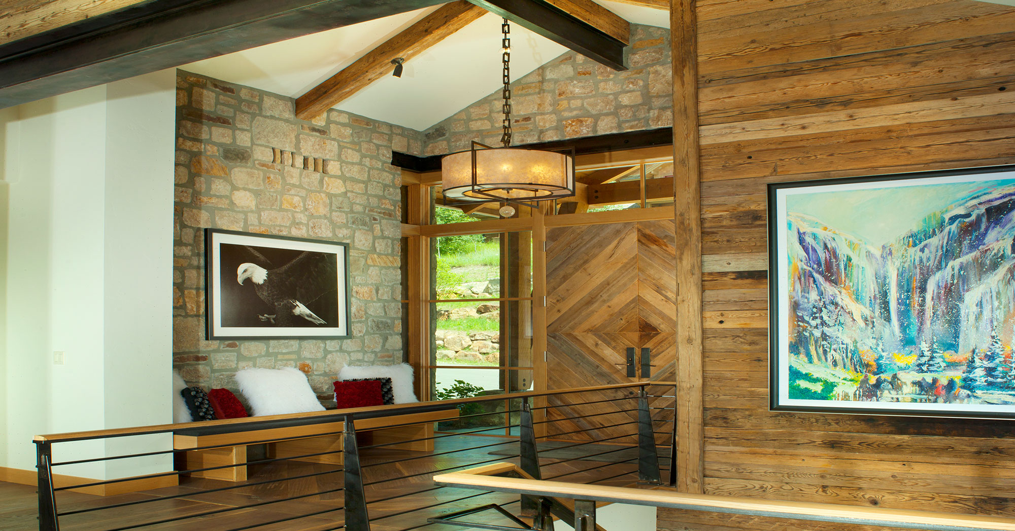 Custom Woodwork and Entry Vail Custom Builders