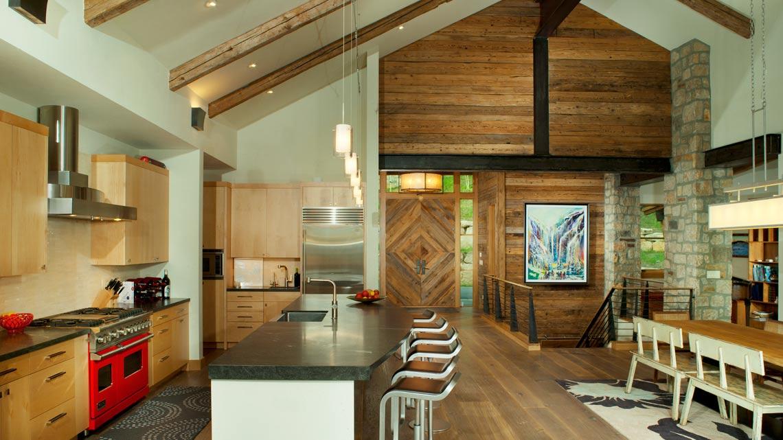 Family Great Room Interior Custom Wood