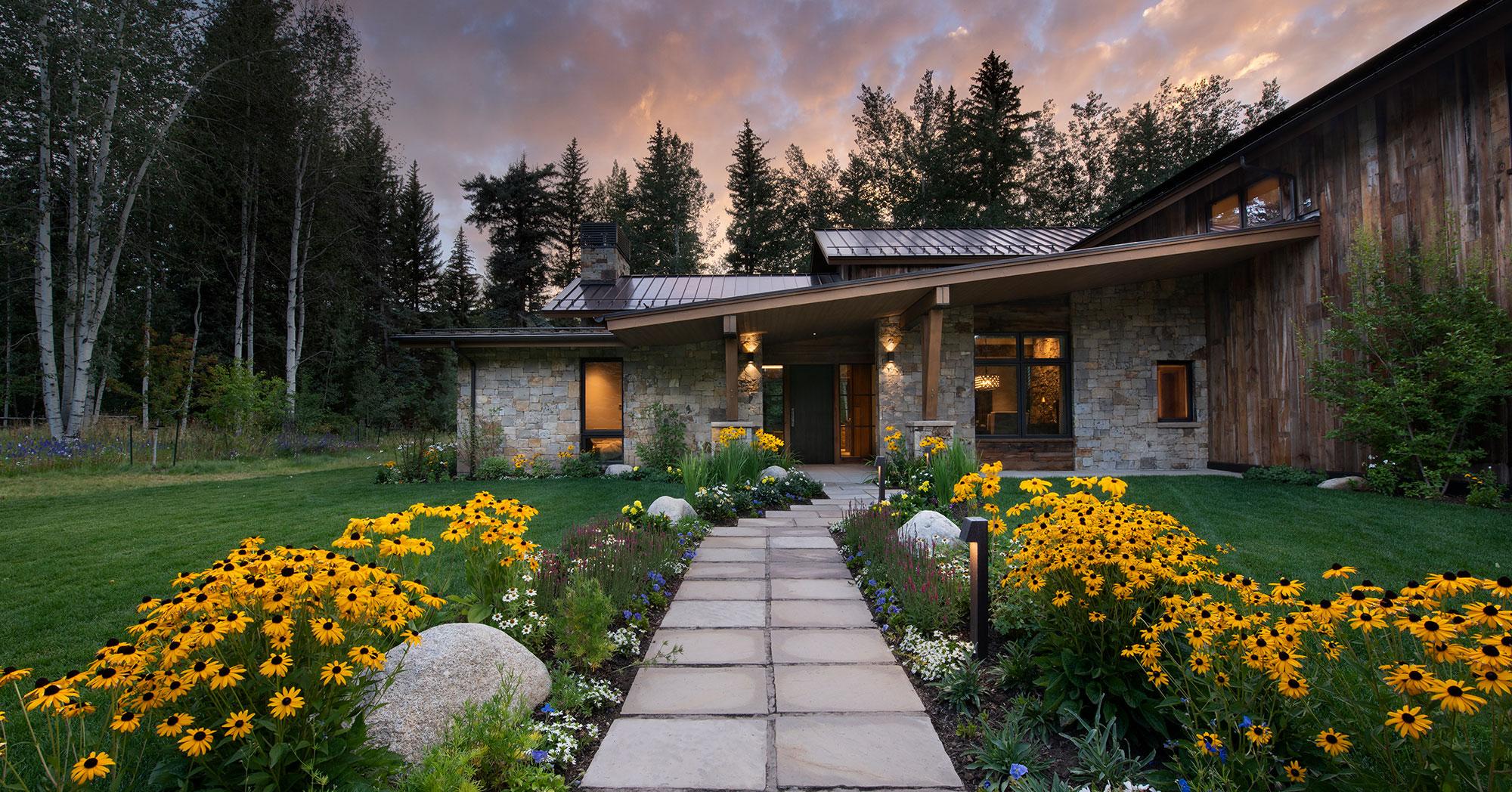 Custom Garden and Entry Way Lake Creek Edwards Colorado