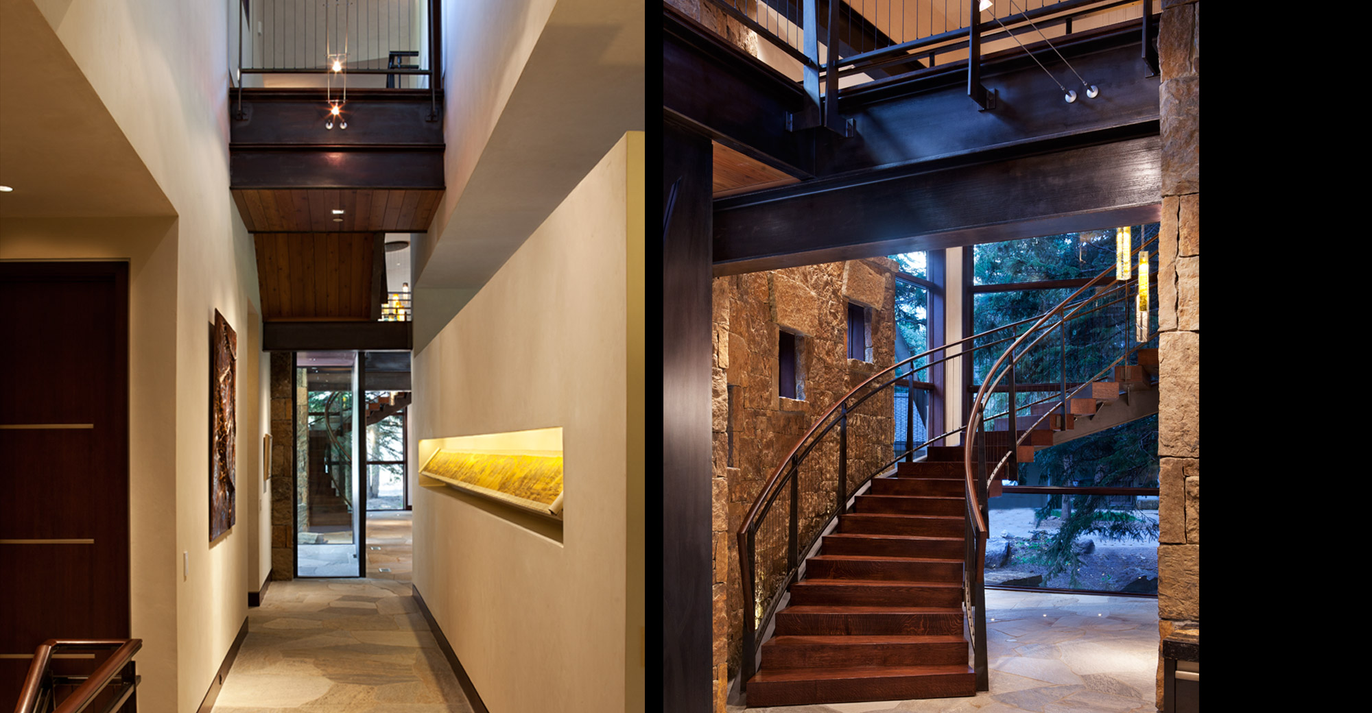 Custom Spiral Staircase Vail Village New Construction