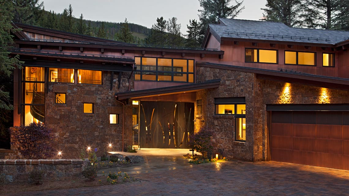 Heated Driveway showcasing grand driveway Vail Colorado Meadow Creek 3