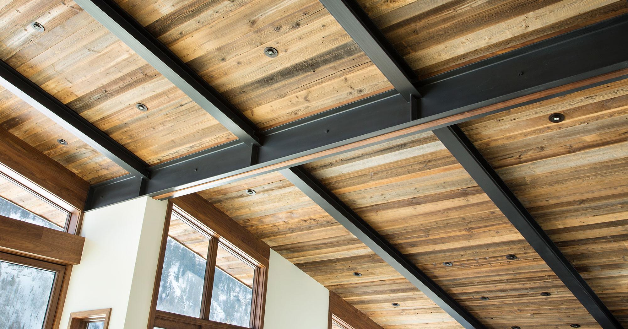 Vail Custom Builders Bald Mountain Steel Beams Custom Wood