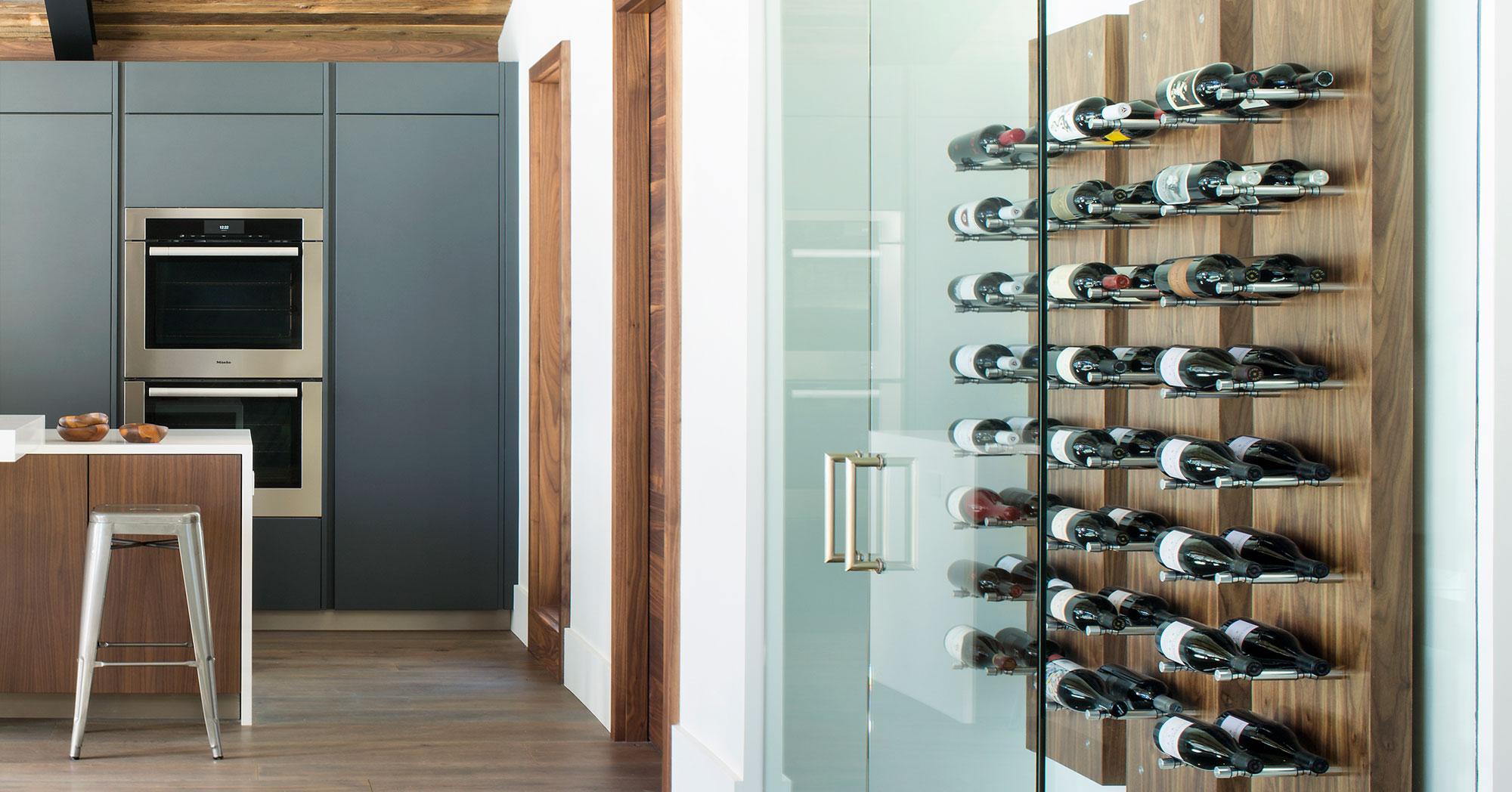 Custom Wine Rack and Kitchen Bald Mountain Vail Custom Builders