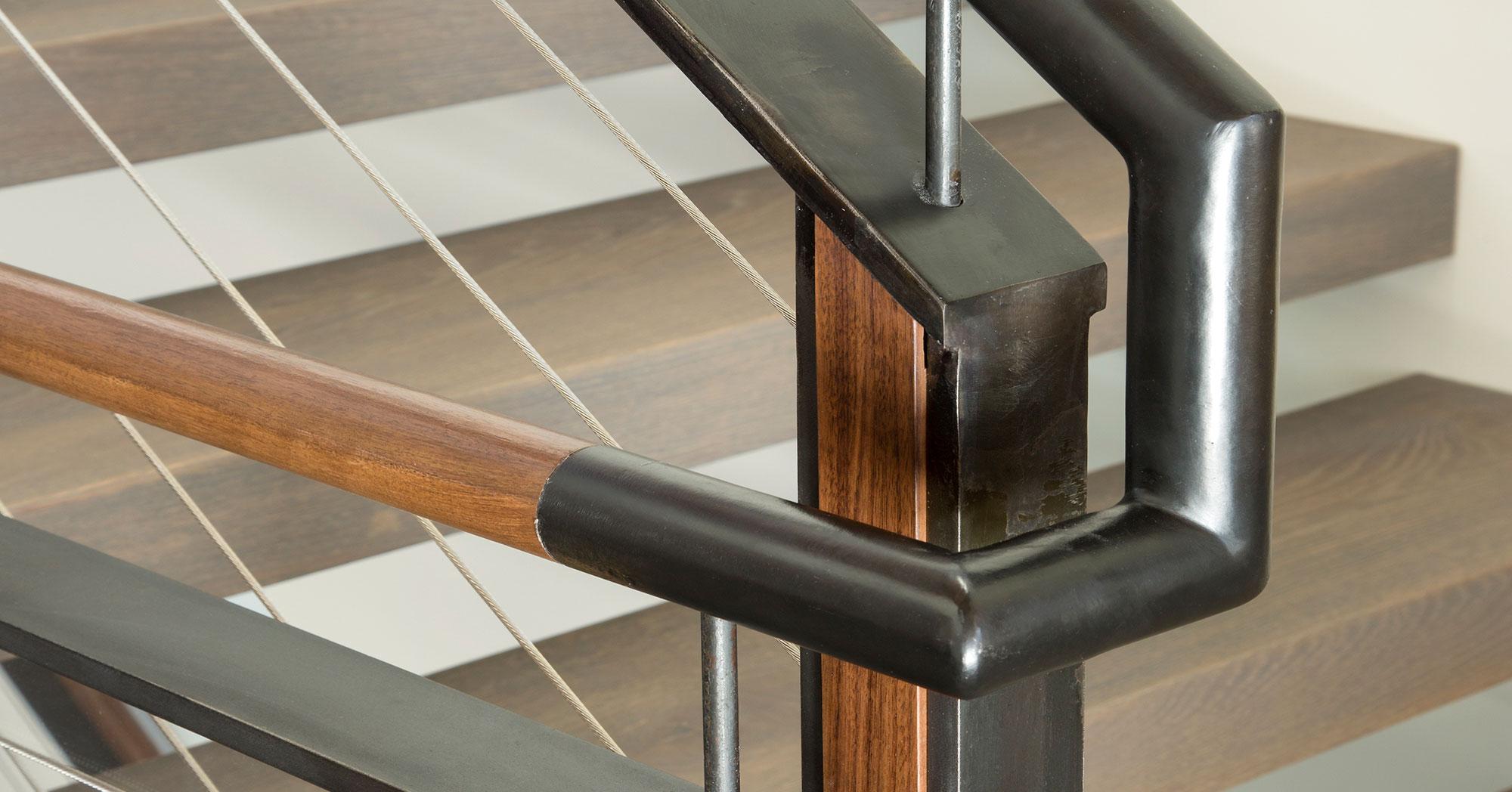 Custom Staircase and steel molding Vail Custom Builders