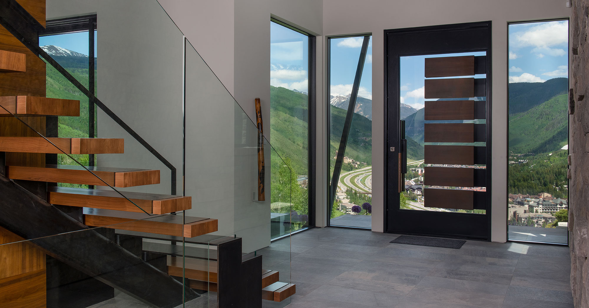 Entryway to Vail Village and Vail Mountain Views