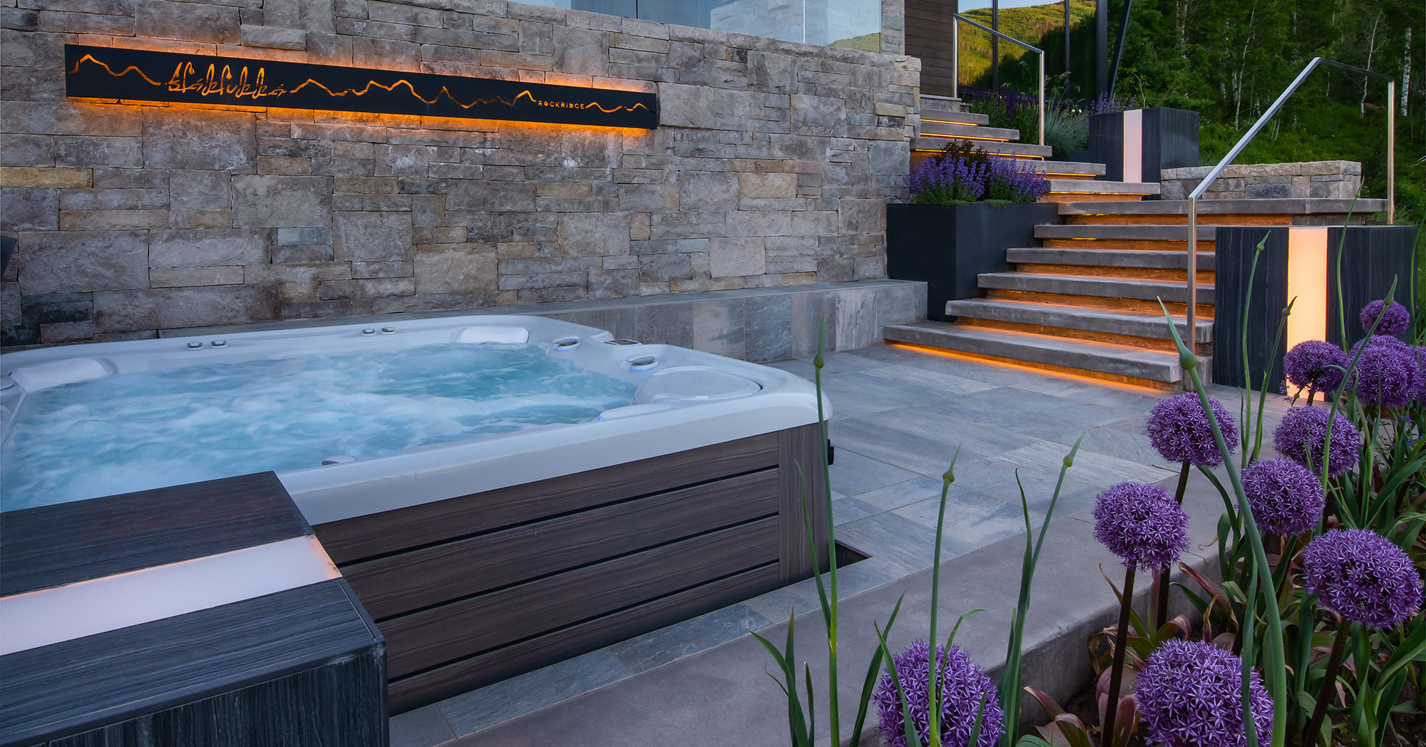 Hot Tub with Vail Mountain Views Vail Custom Builders
