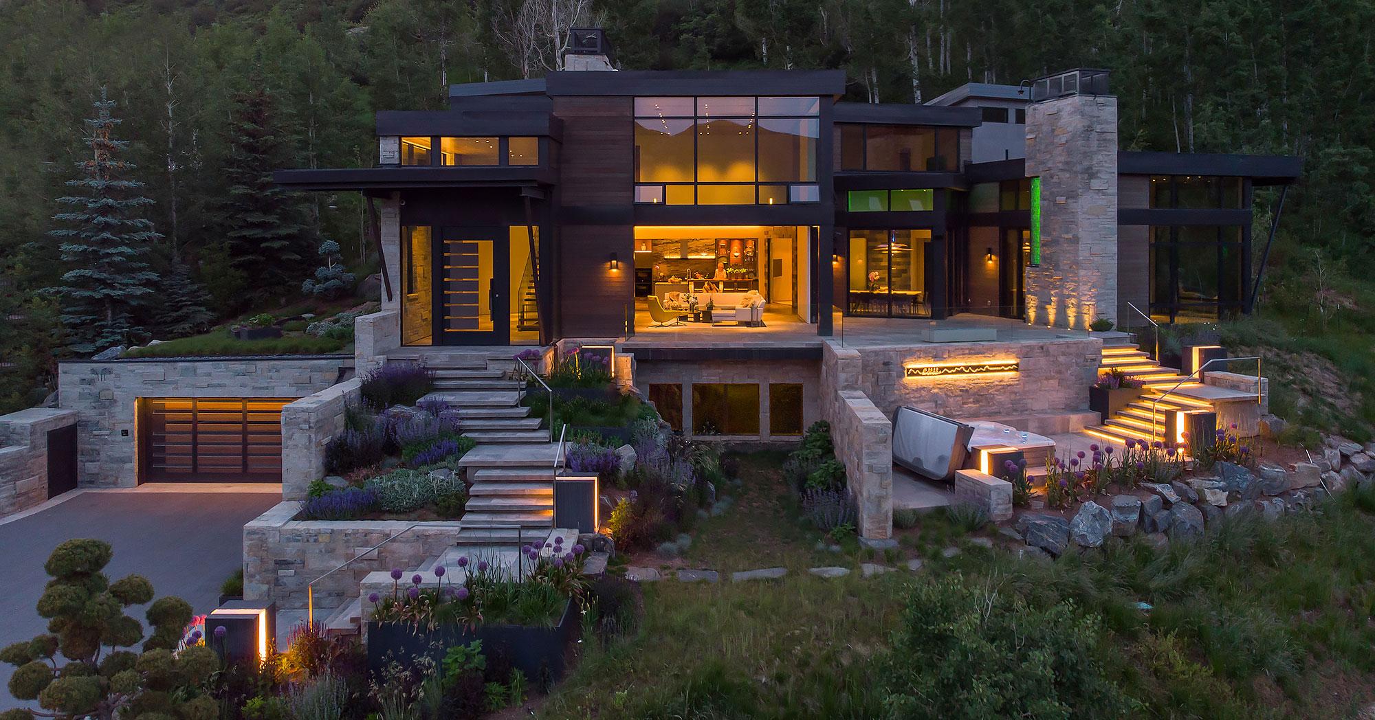 Modern Vail Village Home Mountain Views