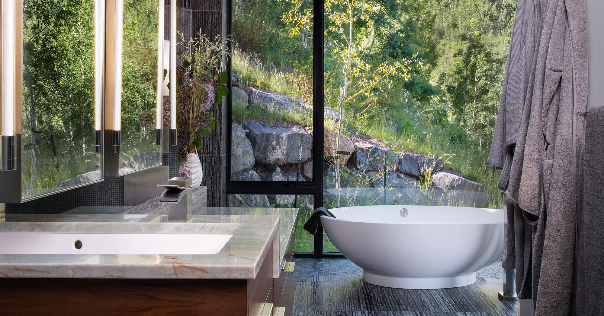Custom Bathroom Mountain Modern Vail New Construction