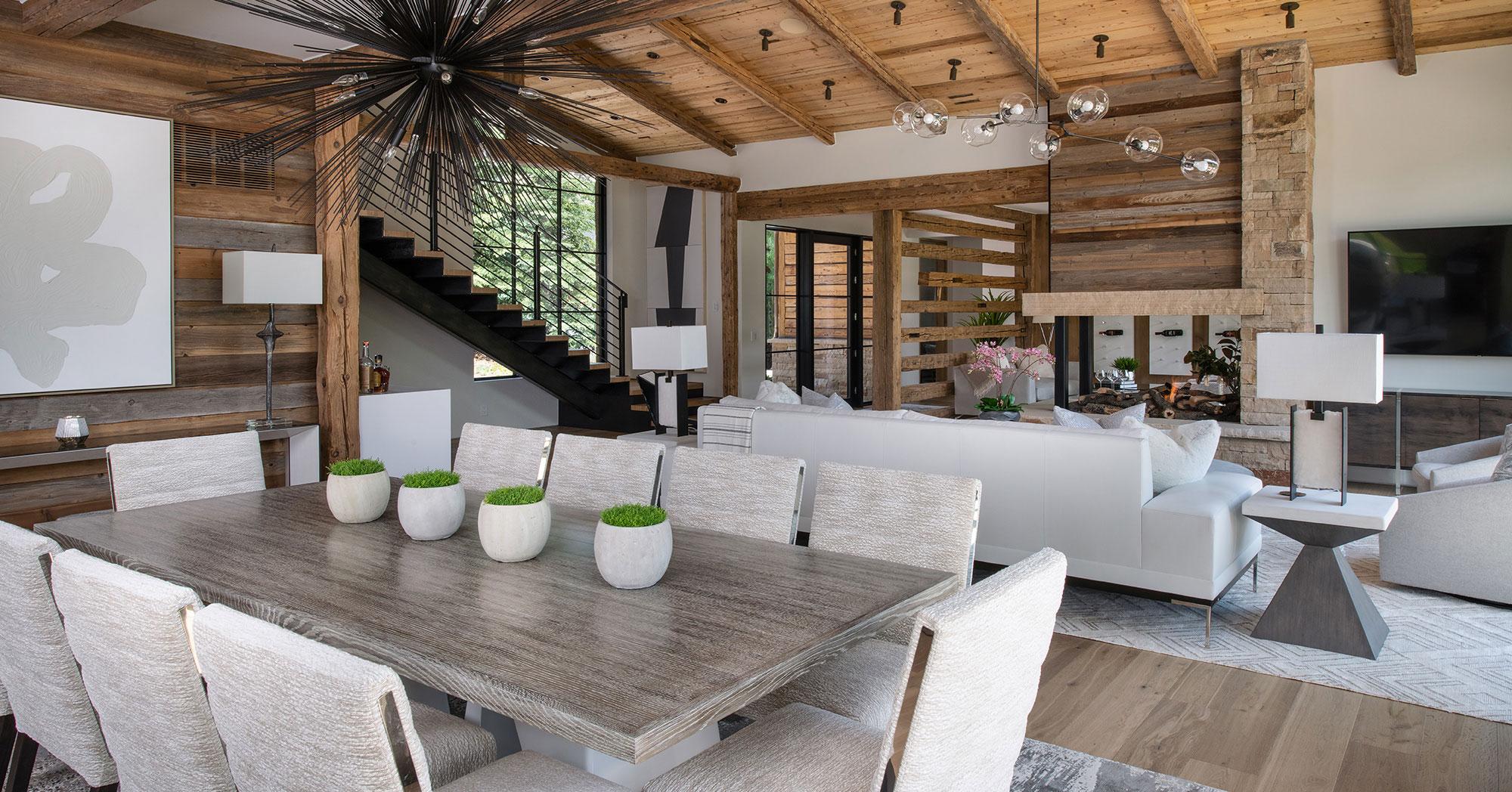 Arrowhead Vail Custom Builder Living Dining Table 1