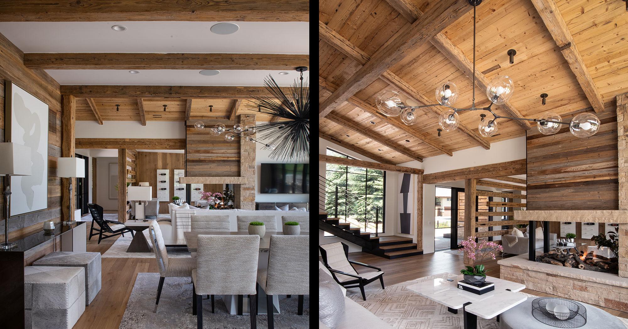 Arrowhead Vail Custom Builder Living Dining Rooms