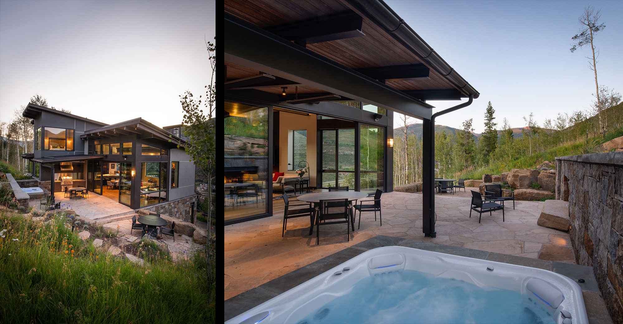 Alpine Drive New Construction Vail Deck and Spa Feature