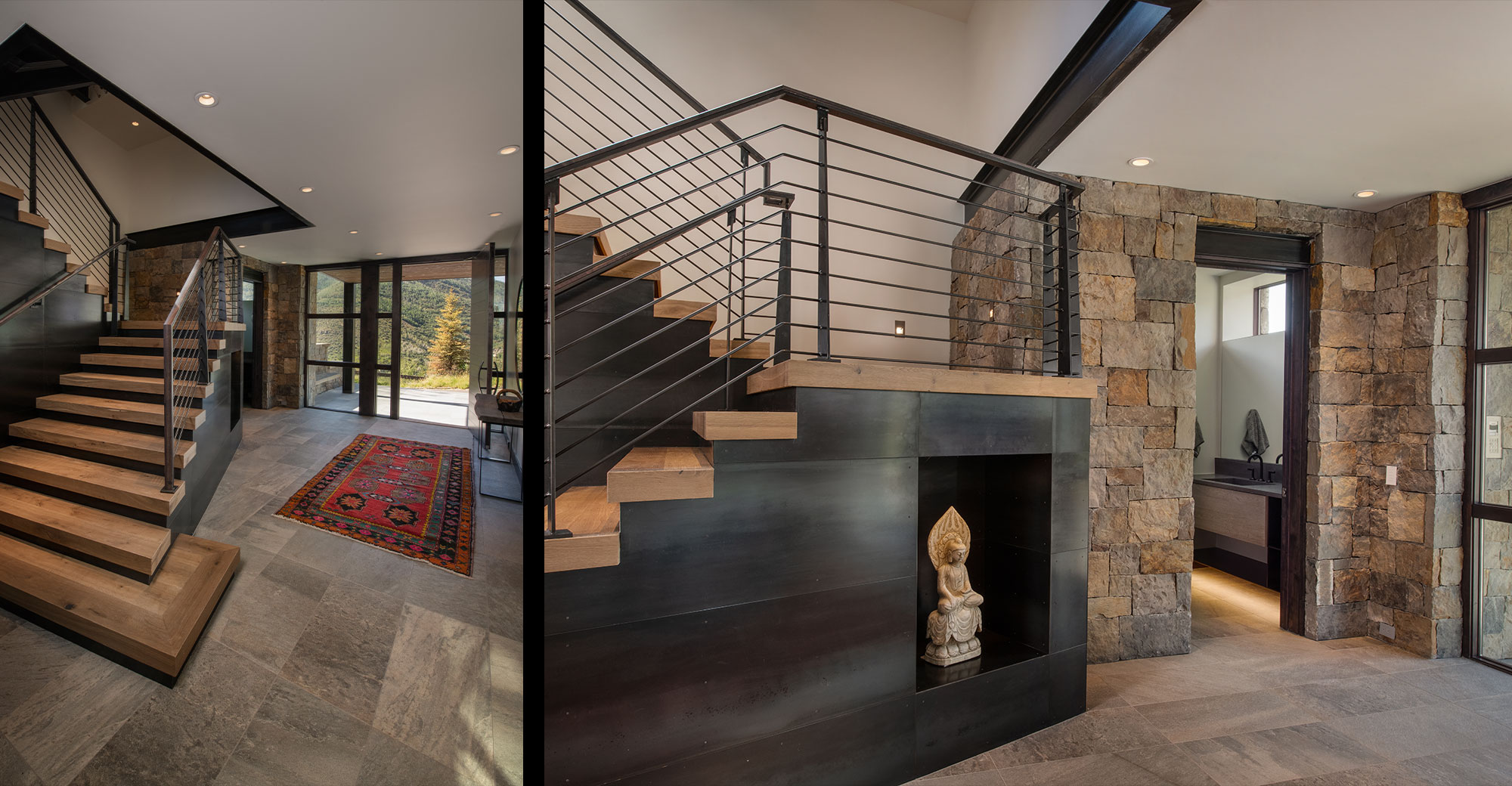 VCB Mountain New Construction Custom Staircase