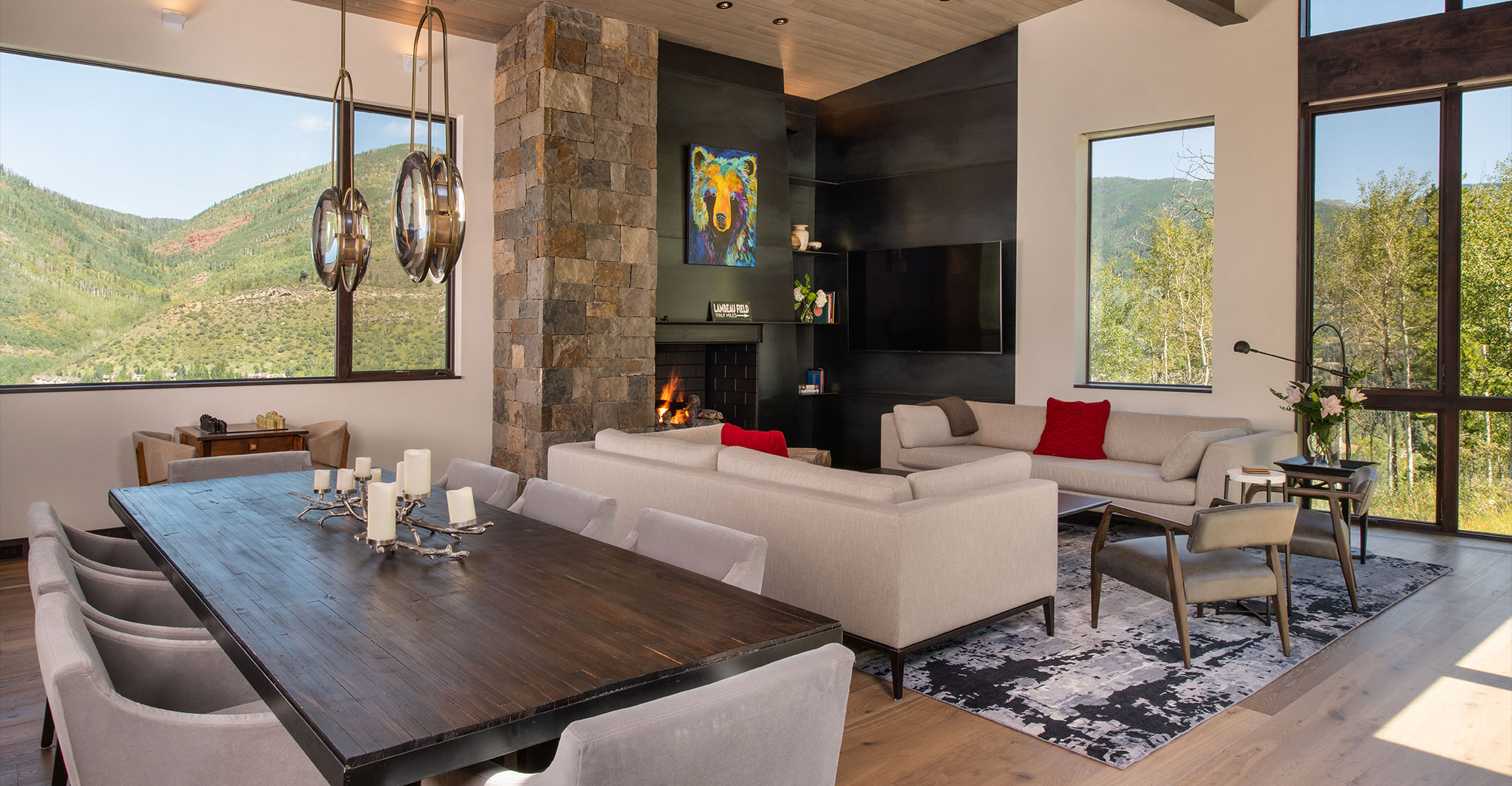 Vail Colorado New Constructions Dining Room Mountain Views