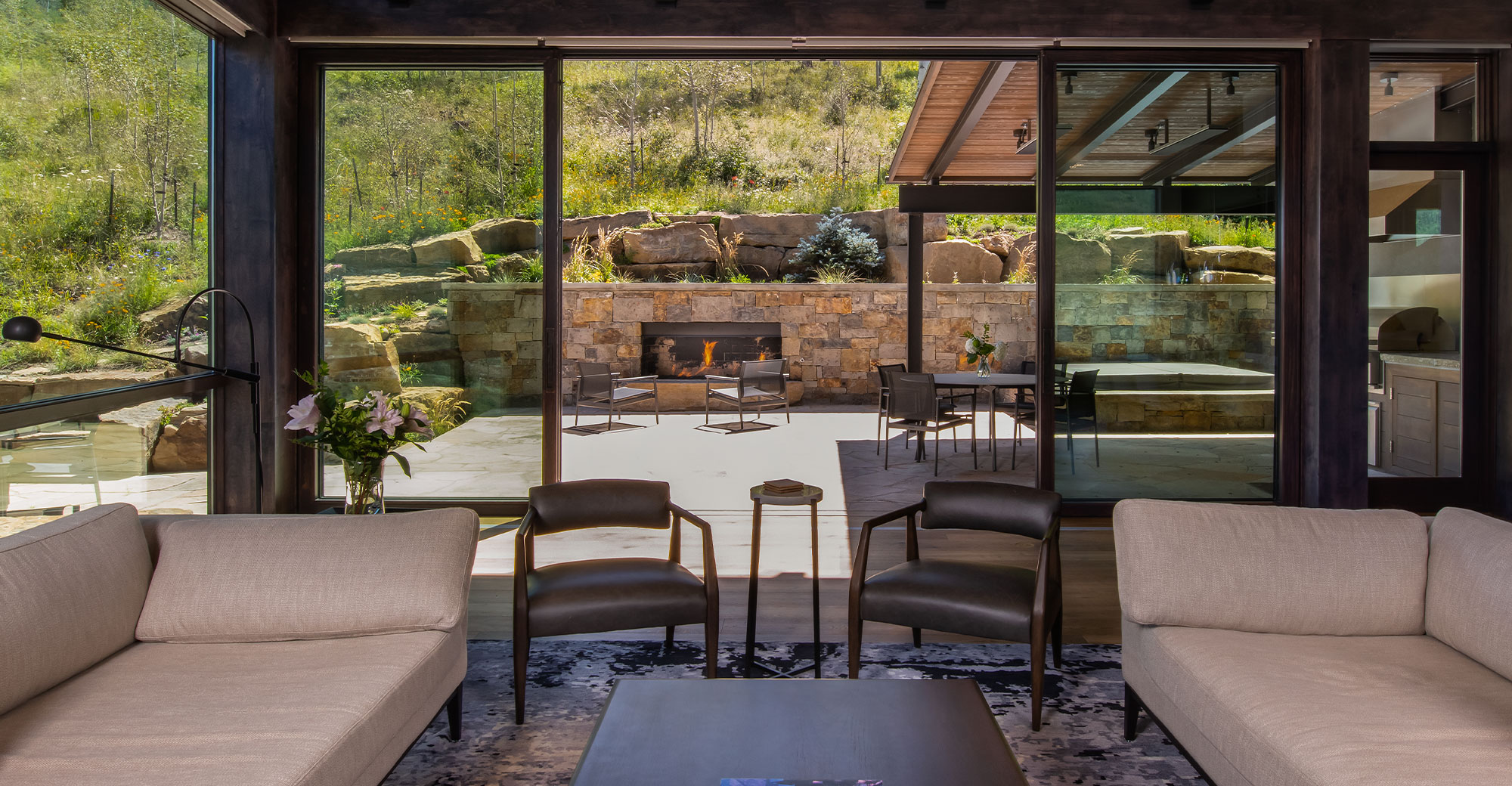 Vail Custom Builders Mountain Deck Interior Space
